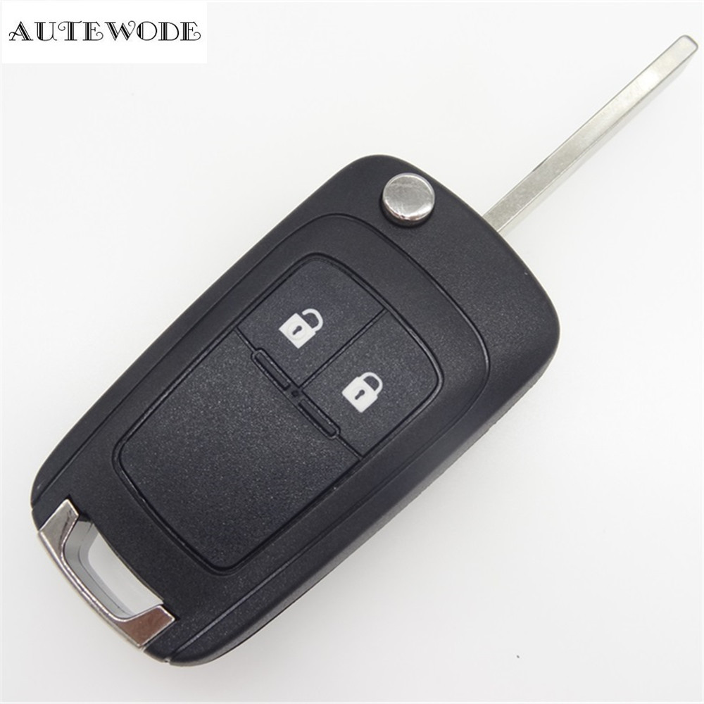 AUTEWODE Remote Key Shell for Opel Replacement 2 buttons Case Cover keyless fob 1pc auto parts