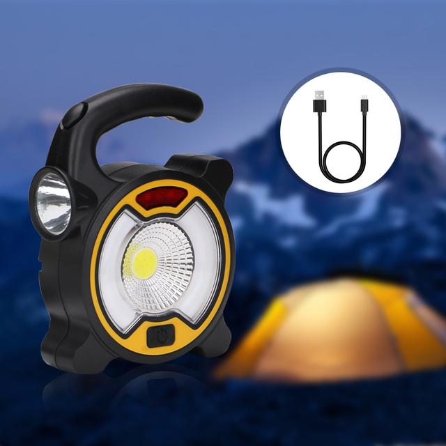 Solar Powered LED Flashlight Lamp