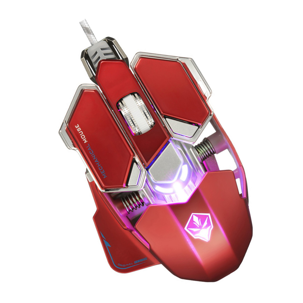 G10 RGB Gaming Mouse USB Wired 4 Colors Backlight 4000 Adjustable DPI Optical Gamer Mouse Computer desktop Mice for LOL DOTA 2