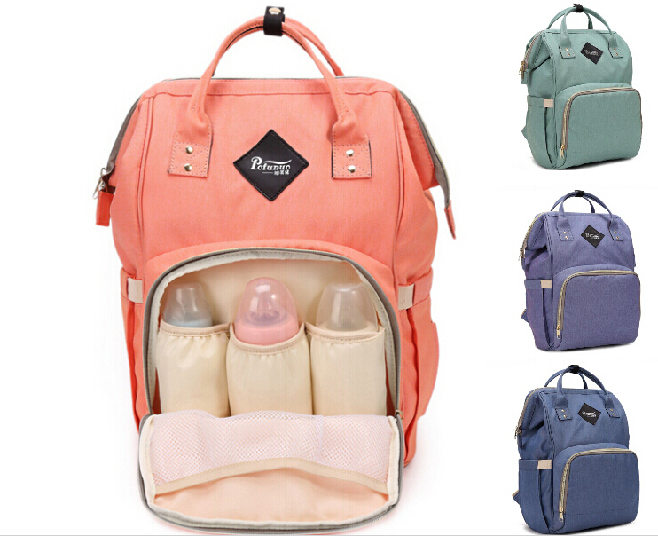 Fashion Mummy Maternity Nappy Bag Brand Large Capacity Baby Bag Travel Backpack Desinger Nursing Bag for Baby Care 10colors