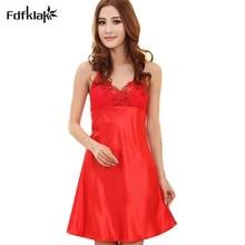 Women's sleepwear skirt sexy v-neck dresses for women 2018 spring summer nightgown female nightdresses ladies sleepshirt Q786
