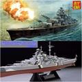 Assembled Warship Model 1/350 German Bismarck Warship Military Model With Motor 80601