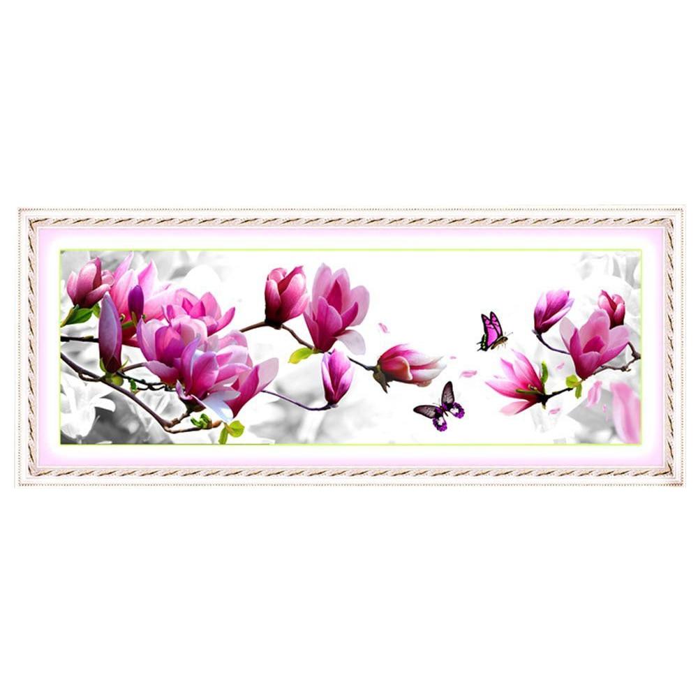 Cross Stitch DIY Handmade Needlework Set Embroidery Kit Precise Printed Cross-Stitching Set Home Decoration - Magnolia