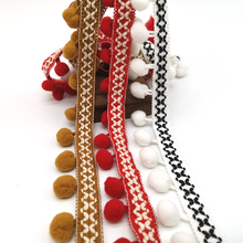 10yards Pom Pom Trim Lace Fabric Sewing Accessories Pompons Trim tassel Ball Fringes Ribbon Sewing Lace For DIY Material Apparel недорого