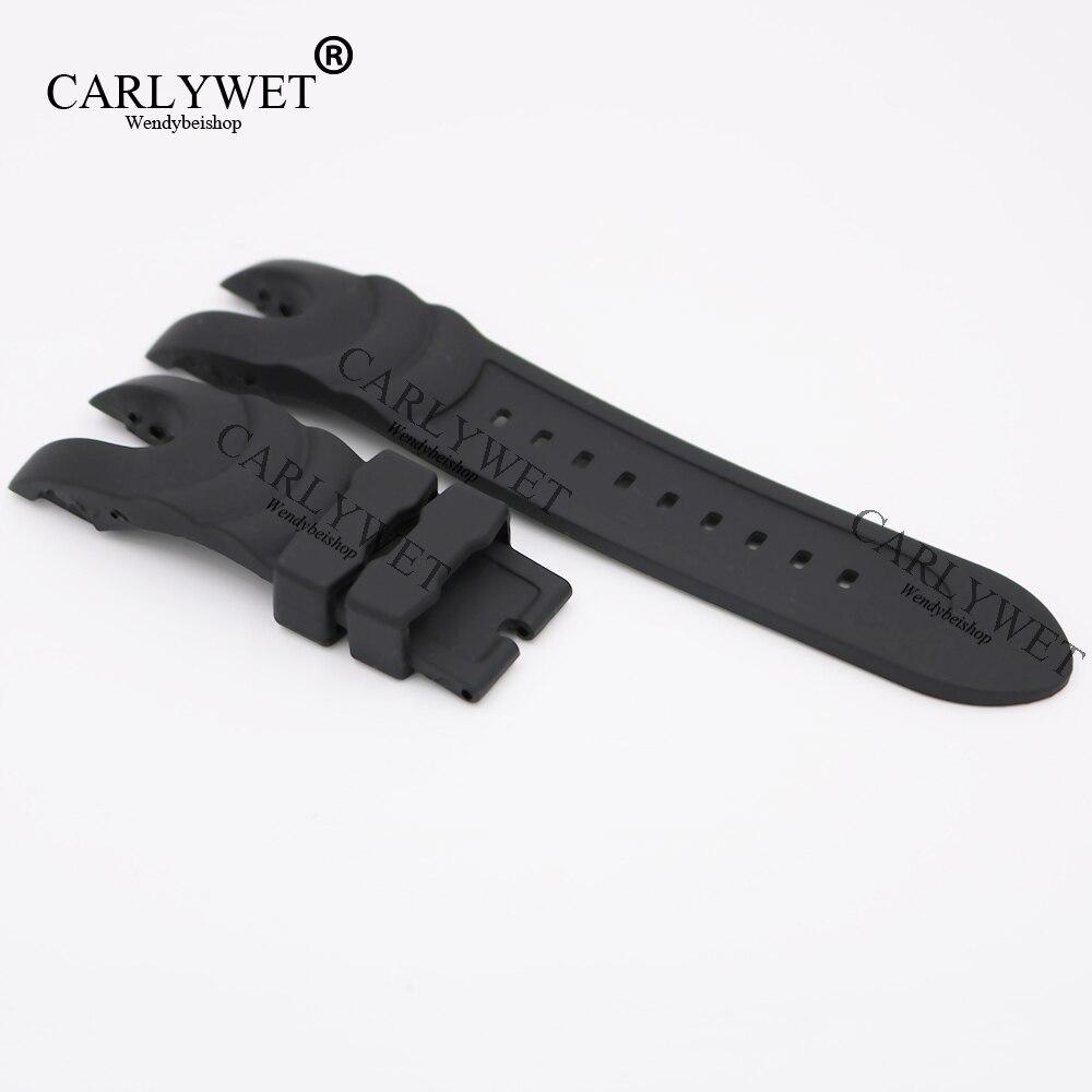 90b0af88a87b CARLYWET 26mm Correa negro caucho impermeable banda de reloj de repuesto  cinturón especial Popular para Invicta Reserve Collection estilo