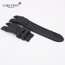 CARLYWET 26mm Black Strap Waterproof Rubber Replacement Watch Band Belt Special Popular For Invicta Reserve Collection Style(China)