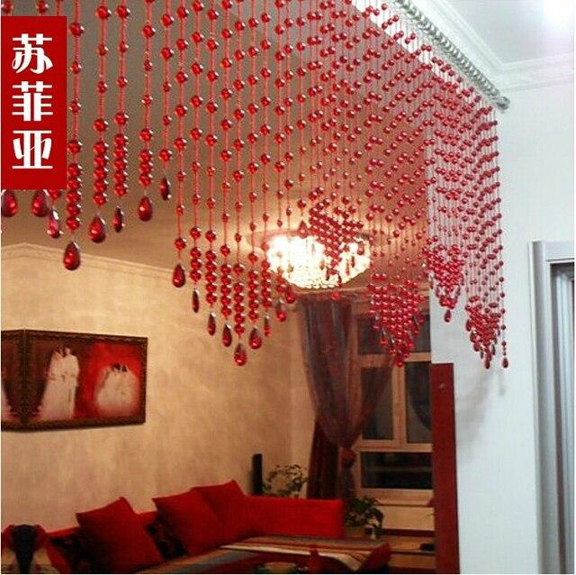 Red bead curtain crystal bead curtains home decor hanging door beads red bead curtain crystal bead curtains home decor hanging door beads curtain wedding decor teraionfo