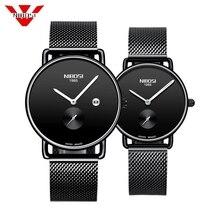 NIBOSI Brand Luxury Lover Watch Pair Waterproof Men Women Co