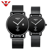 NIBOSI Brand Luxury Lover Watch Pair Waterproof Men Women Couple