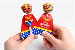 Image 2 - 18pcs Cartoon Candy Lollipop Decoration Cards For Kids Birthday Party Supplies Candy Gift Accessories