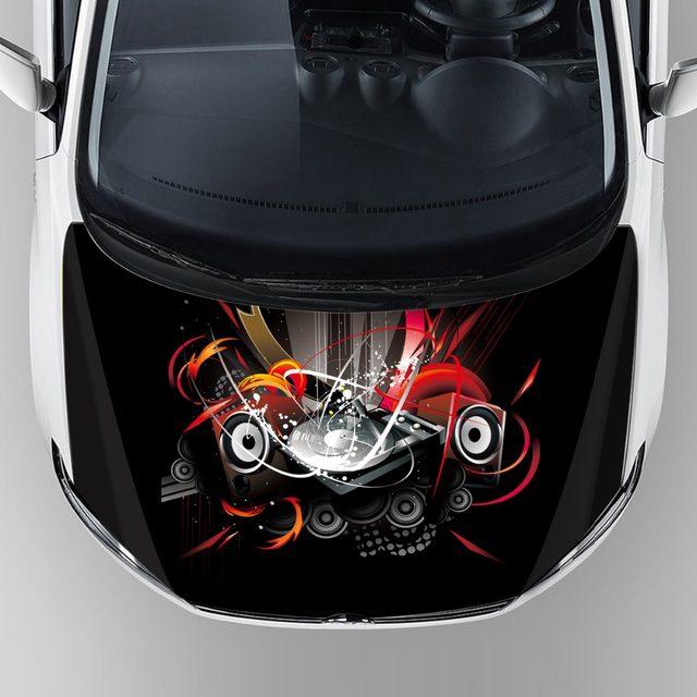 2017 best sell custom car decals unique graphics car body hood bonnet wrap vinyl reusable removable adhesive sticker film