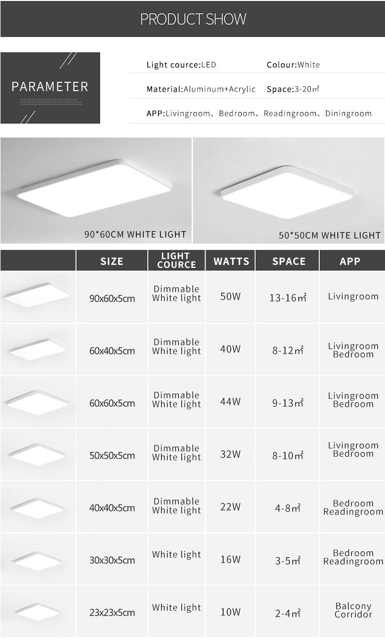 Lâmpada do teto luminária Plafonnier Levou superfície