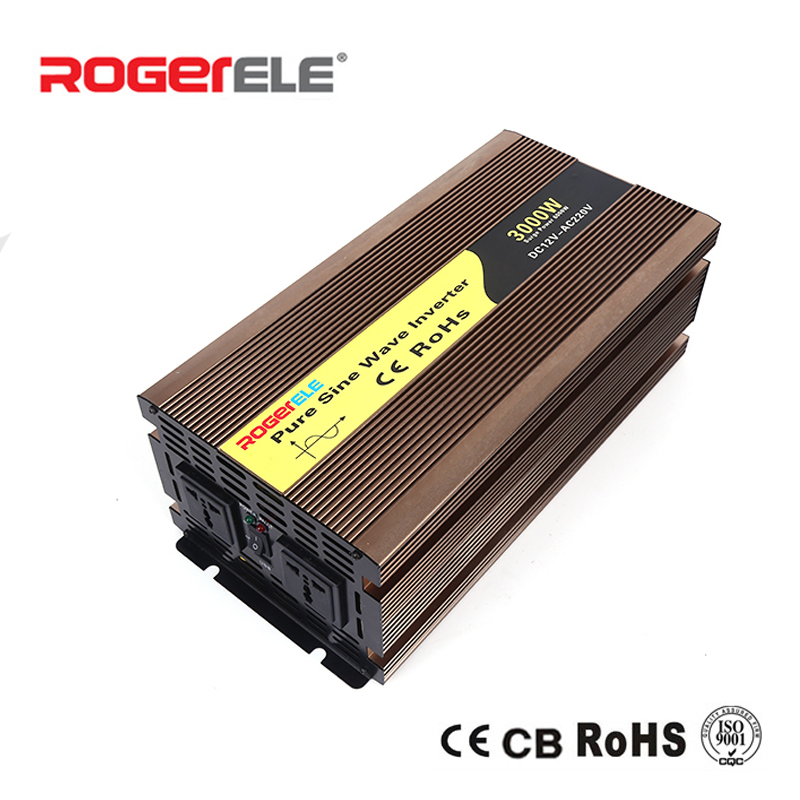3000W 12VDC/24VDC to 110VAC/220VAC Pure Sine Wave <font><b>Inverter</b></font> image