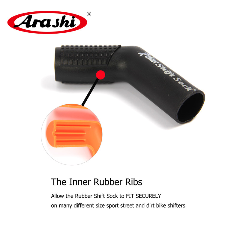 Arashi Rubber Shift Sock Boot Shoe Gear Protector Shift Lever Cover Case Ryder Clips Excellent Motorcycle Accessories Universal for volkswagen bora bora golf 4 lever gear shift lever boot leather shift