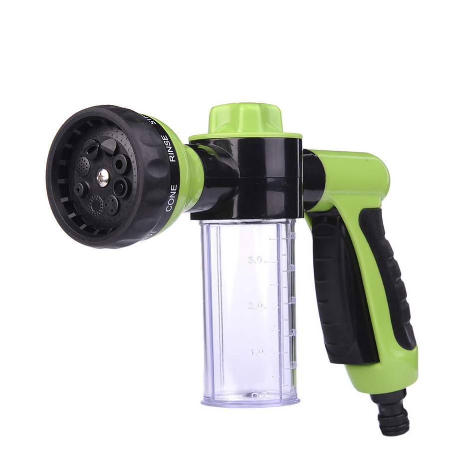 New Car Washing Foam Green Water Gun Car Washer Portable Durable High Pressure For Car Washing Nozzle Spray Free Shipping(China)