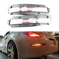 2 unids Lente Transparente Todo-en-uno LED de Señal de Vuelta, Marcha Atrás y Conjunto de La Luz de Freno de copia de seguridad Para 2003-2009 Nissan 350Z 12 V Aparcamiento Led
