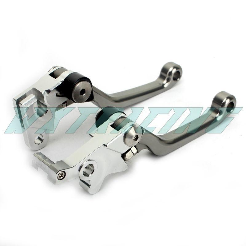Pivot CNC Brake Clutch Levers For HONDA XR 250 MOTARD 1995-2007 XR400 2005-2008 CRM 250 1994-1998 Titanium cnc dirt bike flex pivot brake clutch levers for honda crm250r ar xr250 400 motard