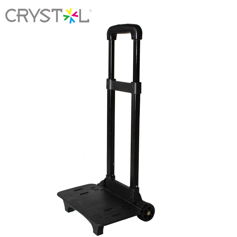 Mini black Aluminum Alloy Luggage Folding Portable Trolley , Family Travel Shopping Small Trolley Case