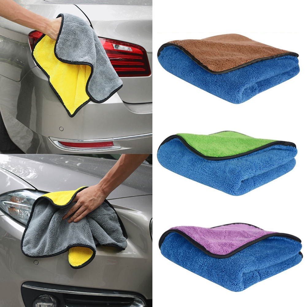 Thick Plush Microfiber Car Cleaning Cloths Car Care Wax Polishing Towels microfiber double-dimensional velvet washing towel 1pc microfiber car wash glove cleaning car care detailling products super mitt microfiber washing tool