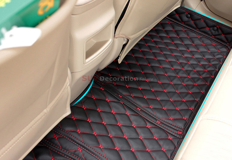 For Toyota Corolla 2004 - 2007 Floor Mats Foot Pad Inner Auto Leather Carpet Accessories accessories for dodge journey fiat freemont 7seats jc 2010 2017 2015 2016 inner floor mats foot pad car leather carpet kits