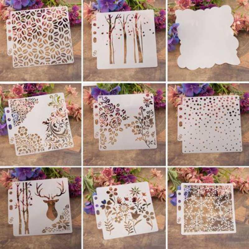 Christmas Snowflake Deer Diy Layering Stencils Template For Walls