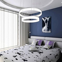 LED Modern Contracted Design Mini Pendant Lights LED 2 Ring Ceiling Lamp with 100 240V