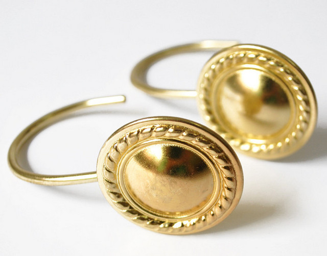 New 12 PCS in box Luxury Gold Golden Vintage Shiny Metal Round ...