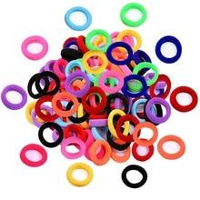 Шт. 100 шт. красочные детские Резиночки для волос резинки интимные аксессуары для девочек для женщин талисманы галстук резинка милый резиновый волос
