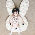 Высокое Качество Ребенка Ползать Одеяло Милый Кролик Играть Мат Дети пол Игровой Коврик Дети Играют Ковер Младенческой Номер 100% Хлопок 106 см