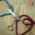 """6.5 """"profesional de alta calidad tijeras de corte de pelo de peluquería cizalla 440C japonés para el peinado del cabello"""