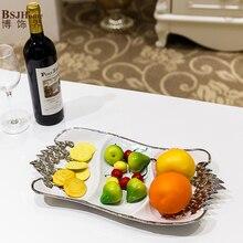 Простые современные керамические творческие и практические гостиная фруктовая тарелка моды украшения дома качество Украшение стола