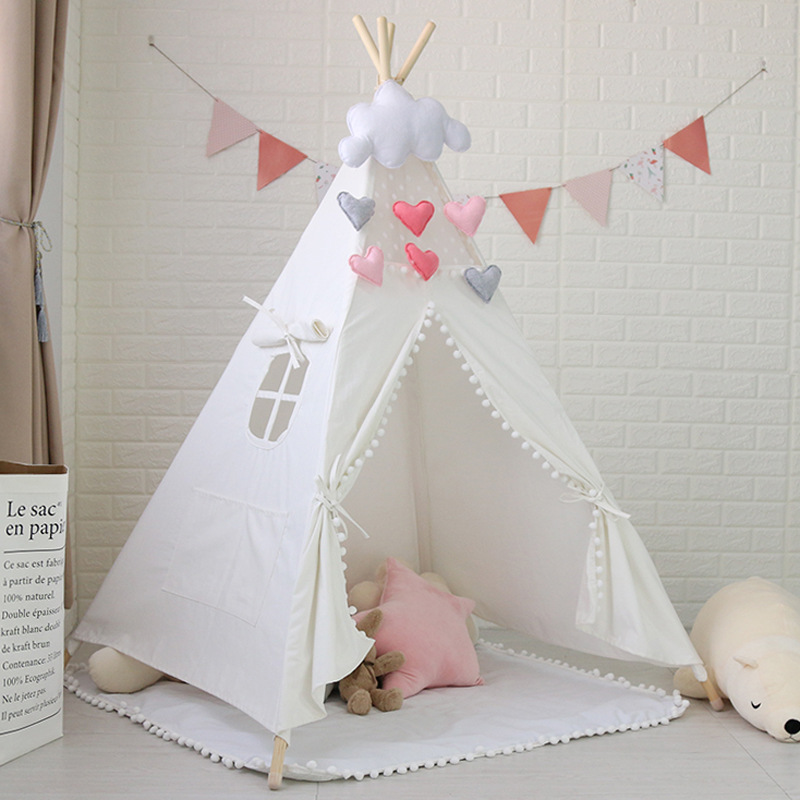 PomPom Teepee,Indian Teepee,Kids Tipi,Tipi Tent,Tipi for Sale yellow chevron pet teepee dog bed house teepee for dogs rabbit teepee