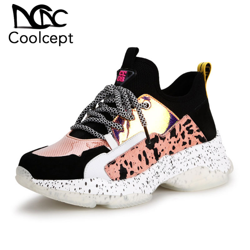 Coolcept/Новинка 2019 года; Лидер продаж; женская Вулканизированная обувь; Простые весенние трендовые кроссовки; дышащая обувь; женская повседневная обувь; Размеры 35 40