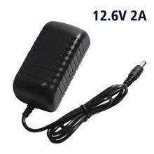 2A 18650 Lítio Carregador de Bateria de 12.6 v Com UE/EUA Plug DC 5.5mm * 2.1mm Para 8.4V2A /11.1 v Carregador De Bateria de Lítio 94x47x33mm