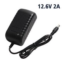 Cargador de batería de litio 12,6 V 2A 18650 con enchufe europeo/estadounidense CC 5,5 MM * 2,1 MM para cargador de batería de litio de 8,4 V 2A/11,1 V 94x47x33mm