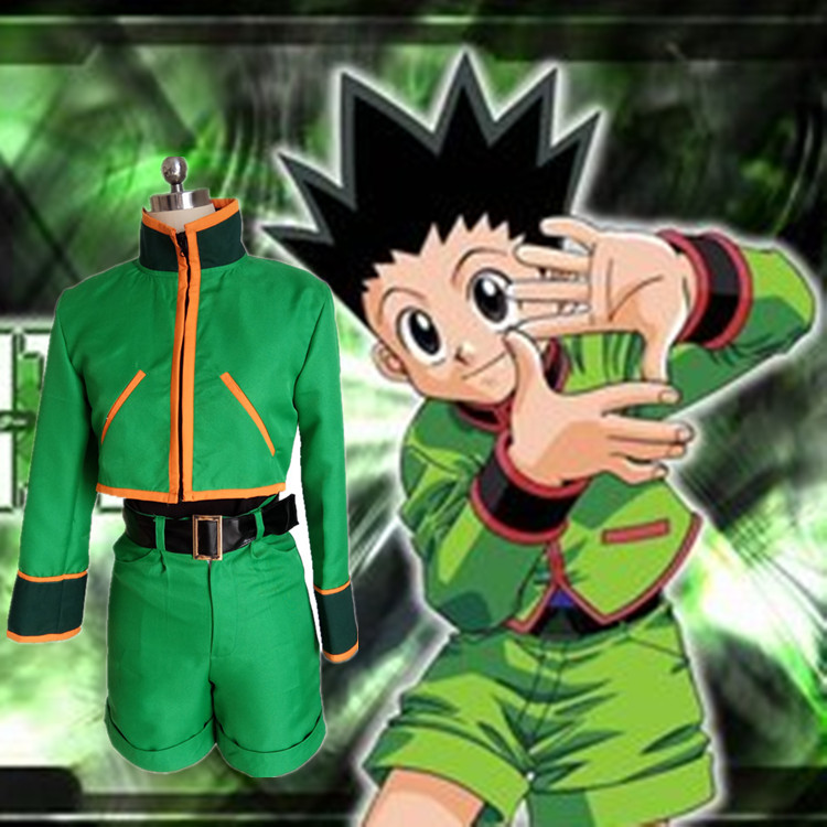 Hunter X Hunter Gon Freecss Cosplay Costumes With Shoe Covers Full Set For Party Customized Halloween Suit For Adult