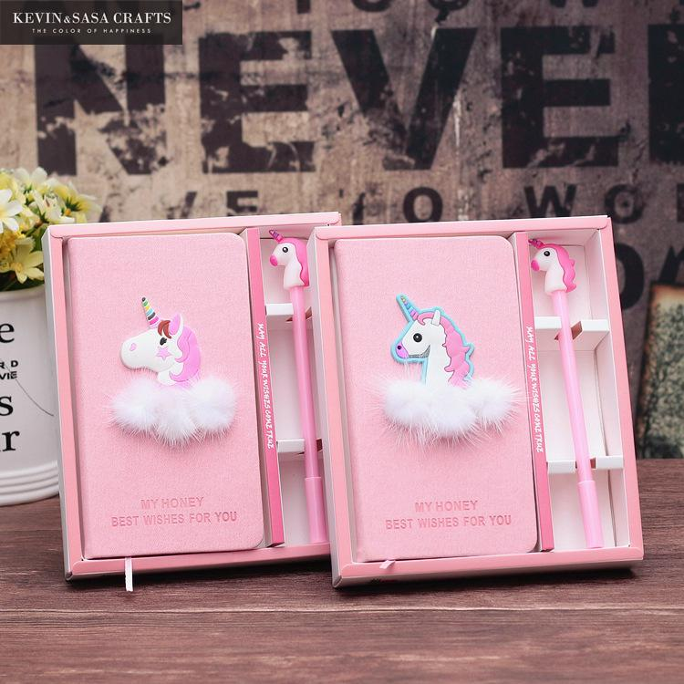 Unicorn Notebook Gift Set Note Book With Pen Set Diary Day Planner Kawaii Journal Stationery School Supplies Study Gift Tools rights of the game notebook gift diary note book agenda planner material escolar caderno office stationery supplies gt105