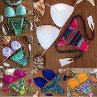 HOT Sexy Brazilian Bikini Swimwear Crochet Bathing Suit Push Up Swimsuit Biquini Women Maillot De Dain