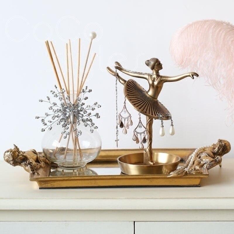 Cocostyles InsFashion créatif ballet fille modélisation à la main en laiton bijoux présentoir pour décor délicat à la maison et cadeaux de fille