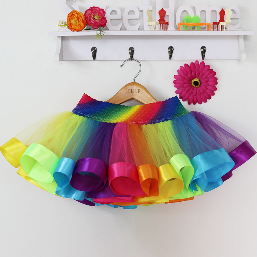 Summer-Style-Girl-Skirt-Baby-Kids-Children-Tutu-Skirt-Short-Rainbow-Skirt-4