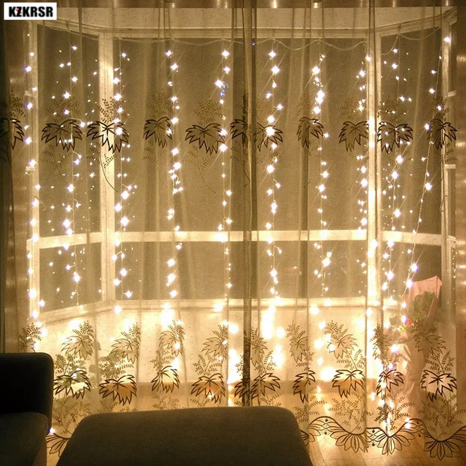 2 X 2M LED Chasing Net Lights Curtain Christmas W 160 LEDs MULTI-Colour