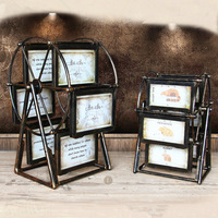 Europe Ferris wheel Picture Frame Retro Windmill Photo Frame Vintage Photo Frame Home Decoration Accessories Wedding Photo Gifts