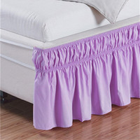 Free shipping purple oyster white beige without bed surface elastic band bed skirt bed apron bedspread twin full queen king size
