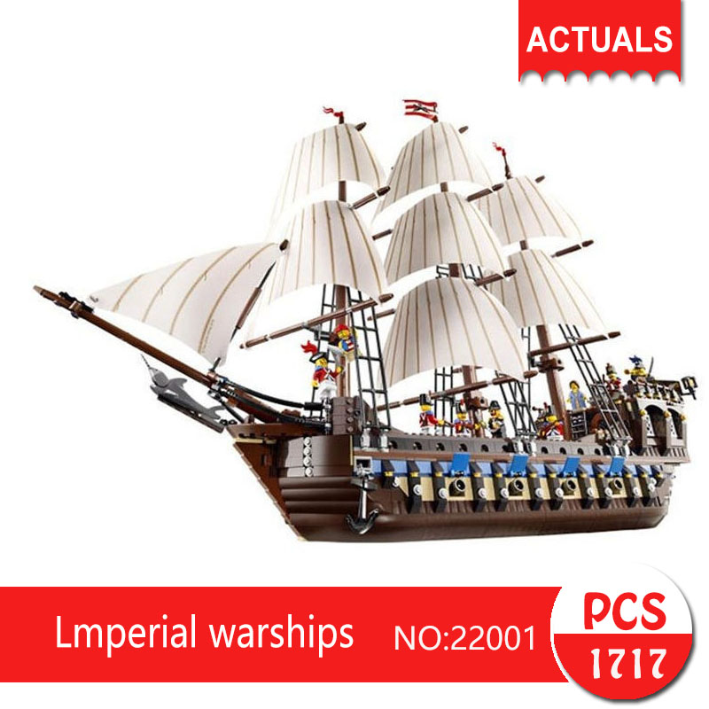 Lepin 22001 1717Pcs Movie Series Lmperial warships Building Blocks Bricks Toys For Children Compatible legoing pirates caribbean lepin 22001 pirate ship imperial warships model building block briks toys gift 1717pcs compatible legoed 10210