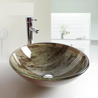 Bathroom Toughened Glass Artistic Basin Dance Hall Ktv Bathroom Washbasin Tempered glass sink vessel basin LO627328