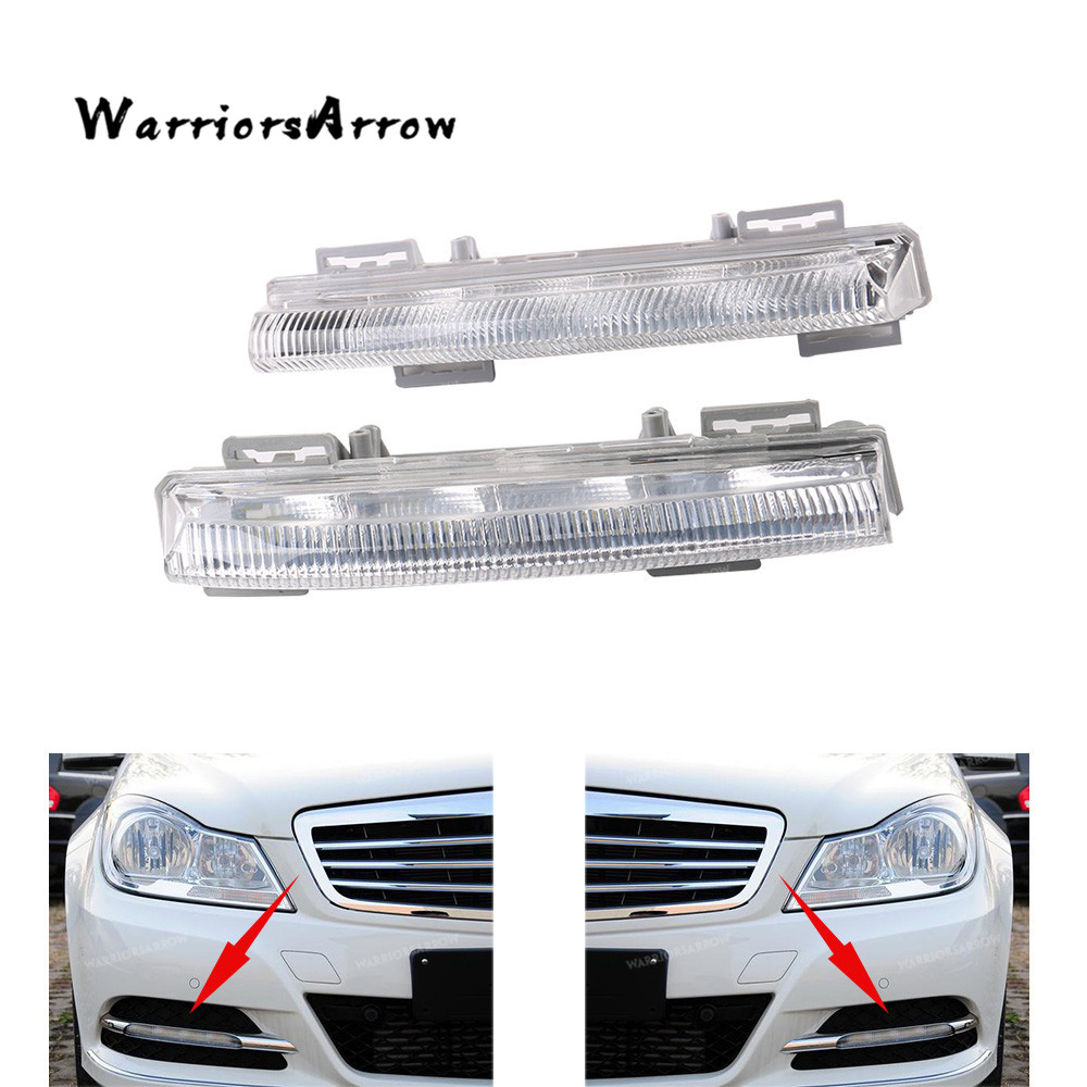Front Left Right Side DRL Daytime Running Lamp Fog Light For Mercedes C-Class W204 S204 E-Class W212 <font><b>R172</b></font> 2049068900 2049069000 image