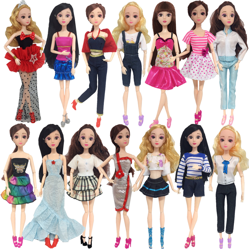 Fashion Clothes For 30cm Dolls Accessories Daily Dress Skirt Clothes Accessories For 1/6 Doll DIY Toys For Girls Gifts