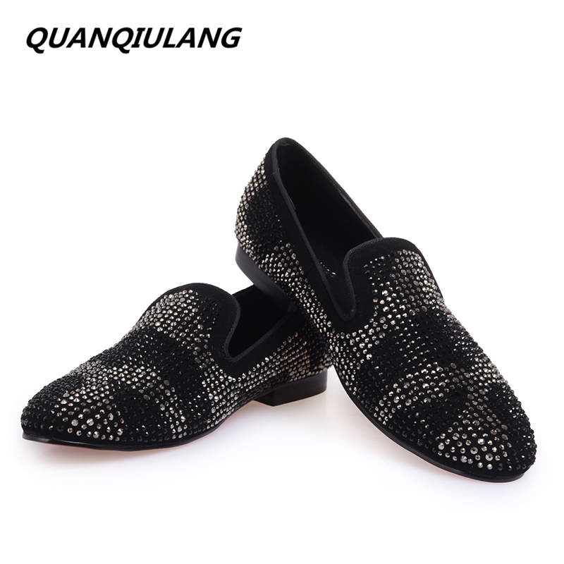2016 New Brand Designer Red Bottoms man shoes black Diamond Genuine Leather Fashion Men's Flats Prom Male Loafers Size 39-47 men luxury brand new genuine leather shoes fashion big size 39 47 male breathable soft driving loafer flats z768 tenis masculino