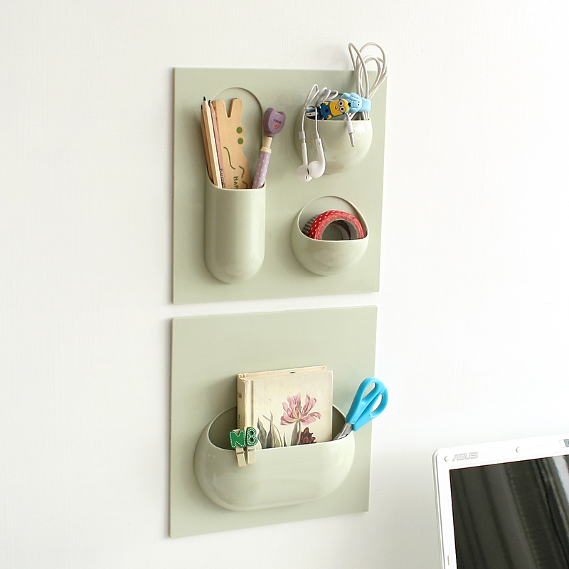 Multifunctional Plastic Bathroom Shelf Adhesive Decorative Wall Shelves Sticky Wall Holder