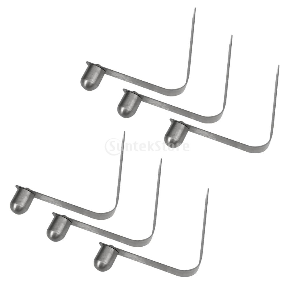 8 Pieces 8mm Stainless Steel Kayak Paddle Spring Clips Awning Tent Pole Snap Button Clips Single End